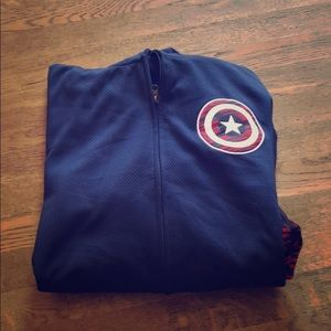 Dark blue unisex Captain America zip jacket